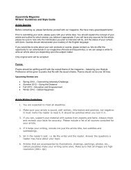 Equanimity Magazine Writers' Guidelines and Style Guide