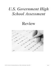 U.S. Government High School Assessment - Anne Arundel County ...
