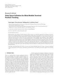 Research Article State Space Initiation for Blind Mobile Terminal ...