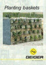Planting baskets - H. Geiger GmbH Stein