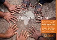 one planet – one Future - Gender Climate