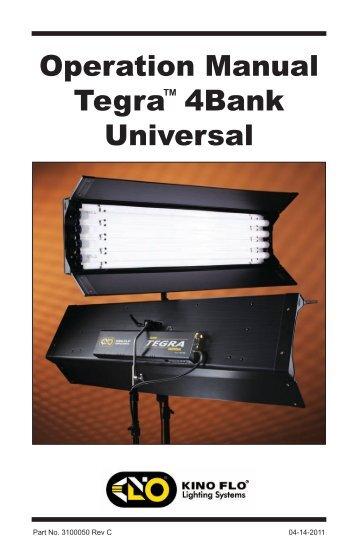 Operation Manual Tegra 4Bank Universal