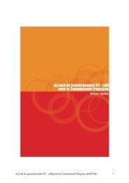 Accord de gouvernement Communauté française 2004-2009