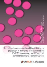 Guidelines for assessing the utility of data from prevention of mother ...