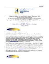 June '08 Newsletter - Mentoring System Involved Youth