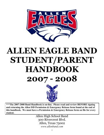 ALLEN HIGH SCHOOL BAND - Texas Music Educators Association