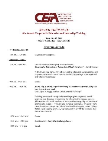reach your peak - Cooperative Education and Internship Association