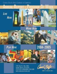 2004 Chamber Annual Report - Council Bluffs Area Chamber of ...