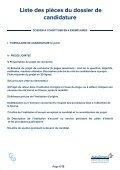 Dossier De canDiDature - SPLF - Page 7