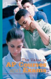 The Value Of AP And Exams - College Board