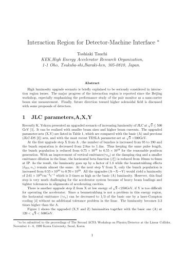 pdf (10 pages, 811kB) - ACFA Joint Linear Collider Physics and ...