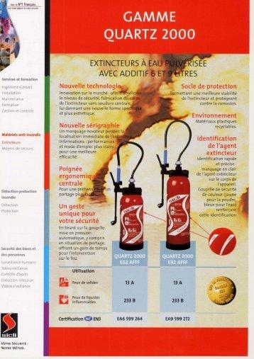Fiche technique extincteur quartz PDF - Enflamstop