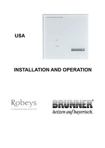 Brunner USA Instructions - Robeys Ltd