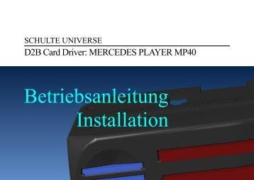 Vollständige Betriebsanleitung des Mercedes Player MP40