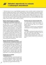 1. Základné odporúčania na zváranie v ochranných atmosférach ...