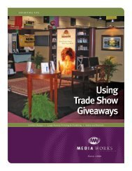 Using Trade Show Giveaways - Media Works Inc