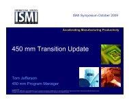 450 mm Transition Update - Sematech