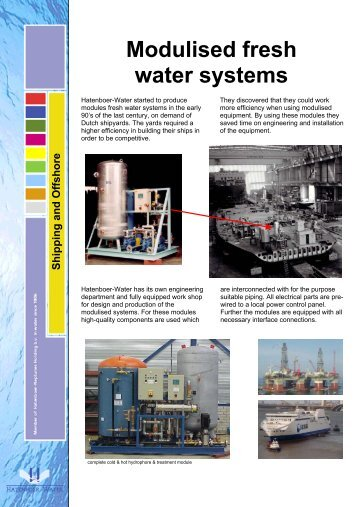 Modulised fresh water systems - Marine Plant Systems