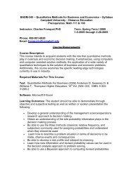BADM-345 – Quantitative Methods for Business and Economics ...
