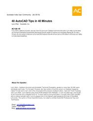 40 AutoCAD Tips in 40 Minutes - Autodesk International Communities