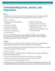 Understanding stress, anxiety, and depression - GlobalHealth