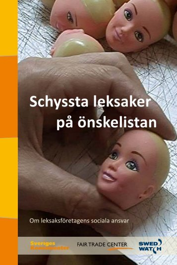 "Broschyren ""Schyssta leksaker på önskelistan"" - Swedwatch"