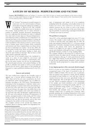 (L.), A Study of Murder : Perpetrators and victims - Cesdip