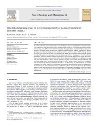 Small mammal responses to forest management for oak ...