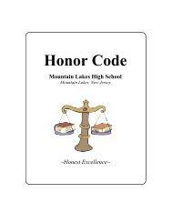 Honor Code - Borough of Mountain Lakes