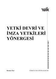 yetki devri ve imza yetkileri yönergesi - Türkiye İstatistik Kurumu