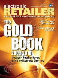 Electronic Retailer Buyers' Guide and Resource ... - Magazooms