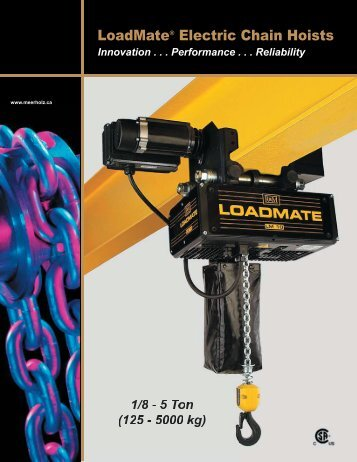 LoadMate Electric Chain Hoists