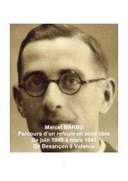 Marcel BARBU Parcours d'un refoulé en zone libre De juin 1940 à ...