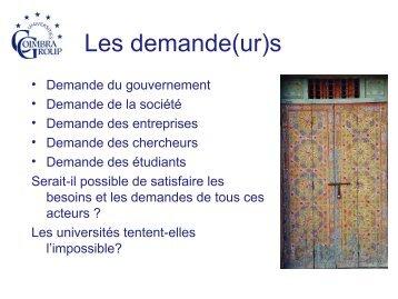 L'université sous les projecteurs par Mme Inge Knudsen - AUF