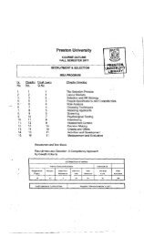 Recruitment and Selection - Preston University