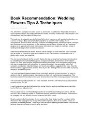 Book Recommendation: Wedding Flowers Tips & Techniques
