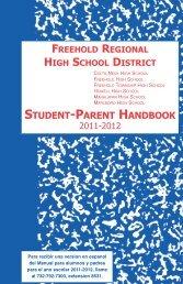 Student-Parent Handbook - Freehold Regional High School District