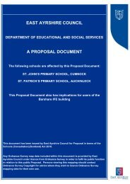 EAST AYRSHIRE COUNCIL A PROPOSAL DOCUMENT