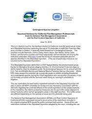 guidance document - National Pest Management Association