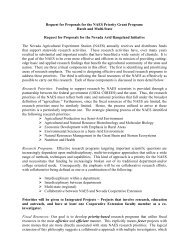 Request for Proposals for the NAES Priority Grant Program: Hatch ...