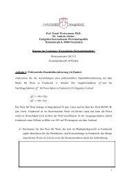 Klausur WS 12/13 - Internationale Wirtschaftspolitik