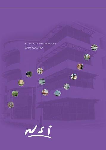 NIEUWE STEEN INVESTMENTS N.V. JAARVERSLAG 2007 - NSI