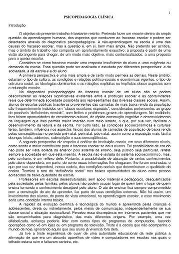 Psicopedagogia Clínica - Drb-assessoria.com.br