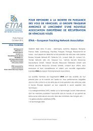 European Tracking Network Association