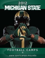 FOOTBALL CAMPS - Michigan State University Summer Sports ...