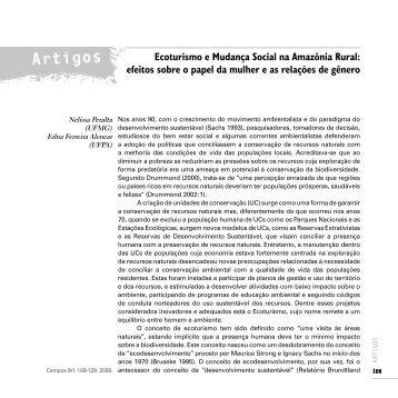 Ecoturismo e Mudança Social na Amazônia Rural - Instituto de ...
