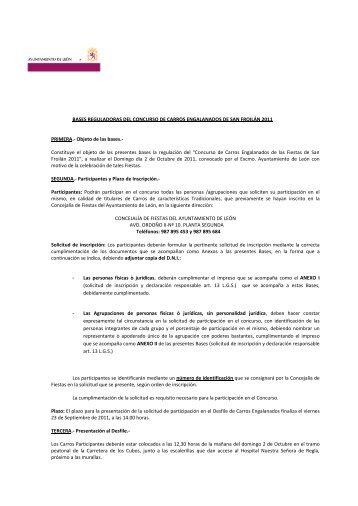 BASES REGULADORAS DEL CONCURSO DE CARROS ...