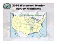 2010 Waterfowl Hunter Survey Summary