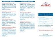 Corsi di formazione e aggiornamento Corsi di formazione ... - Acemc.it