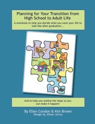Planning for Your Transition from High School to - Rural Institute ...
